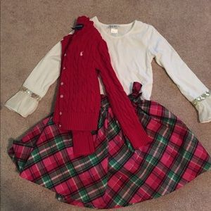 Girls sz 6 plaid Holiday outfit